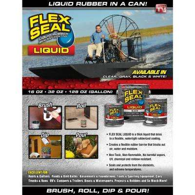 Flex Seal Liquid Clear 1 Gal. Liquid Rubber Sealant Coating (2-Piece)