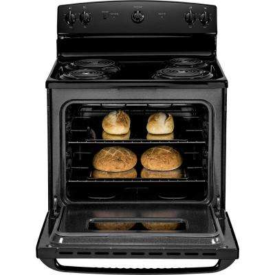 30 in. 5.0 cu. ft. Electric Range in Black