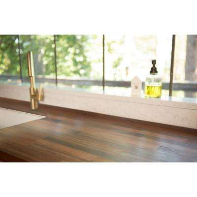 6 ft. 2 in. L x 2 ft. 1 in. D x 1.5 in. T Butcher Block Countertop in Unfinished Sapele