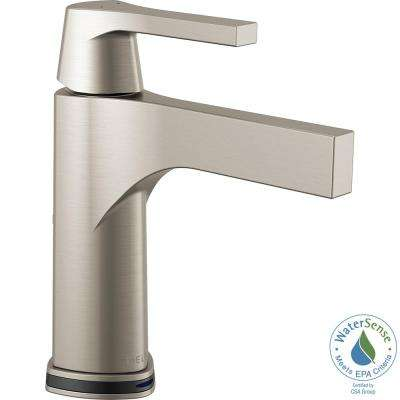 Zura Single Hole Single-Handle Bathroom Faucet with Touch2O.xt Technology in Stainless