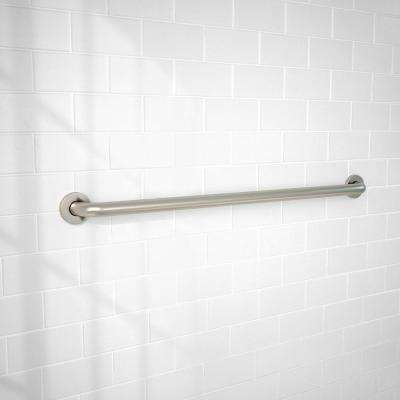 36 in. x 1-1/4 in. Concealed Screw ADA Compliant Grab Bar in Brushed Stainless Steel