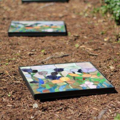 12 in. x 12 in. Tulip Decorative Garden Stone