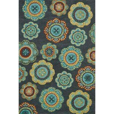 Taylor Lifestyle Collection Midnight/Teal 7 ft. 10 in. x 11 ft. Area Rug