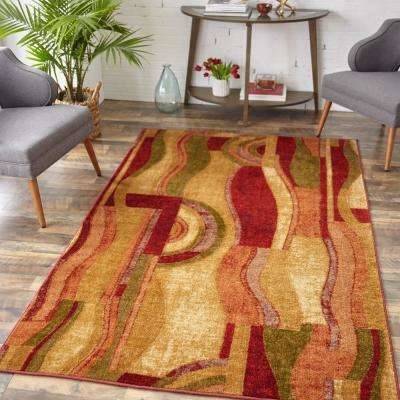 Picasso Wine 2 ft. x 3 ft. Indoor Area Rug