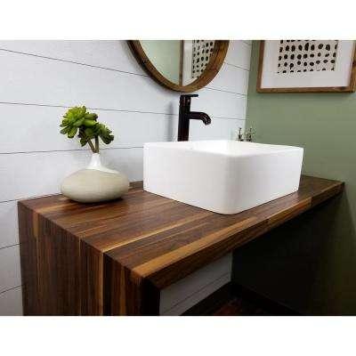 4 in. x 4 in. Wood Countertop Sample in Black Walnut Plank