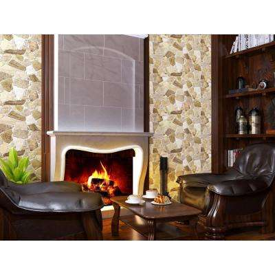 3D Retro 24/1000 in. x 39 in. x 25 in. Brown PVC Wall Panel