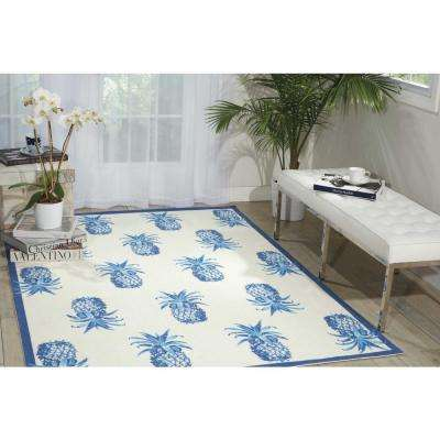 Pineapple Grove Ivory 8 ft. x 11 ft. Indoor/Outdoor Area Rug