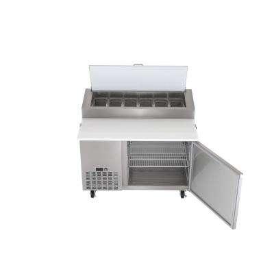 13.8 cu. ft. Single Door Commercial Pizza Prep Refrigerator in Stainless Steel