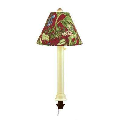 Catalina 28 in. Bisque Umbrella Outdoor Table Lamp with Lacquer Shade
