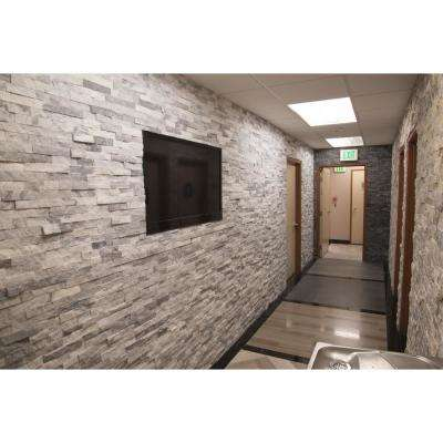 Trevi Gray Ledger Panel 6 in. x 24 in. Natural Travertine Wall Tile (10 cases / 60 sq. ft. / pallet)