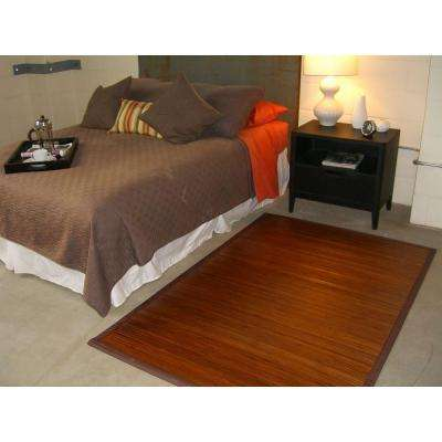 Contemporary Chocolate Brown 4 ft. x 6 ft. Area Rug