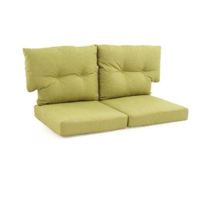 Charlottetown Green Bean Replacement Outdoor Loveseat Cushion