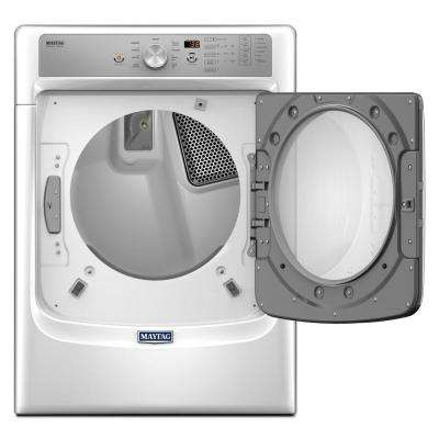 7.4 cu. ft. 240 -Volt Stackable White Electric Vented Dryer with Steam and PowerDry System, ENERGY STAR