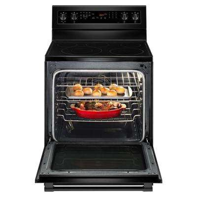 6.4 cu. ft. Electric Range with True Convection in Black