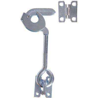 8 in. Extra Heavy Safety Hook with Plate Staples in Zinc-Plated (3-Pack)