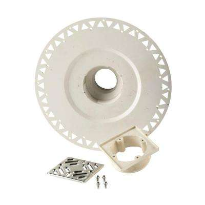 Prova PVC Shower Drain Component with Grate in Chrome
