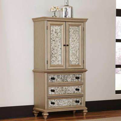 Visions Silver Gold Champagne Finish Armoire