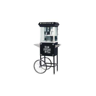 Popcorn Time Popcorn Popper Machine with Cart in Black