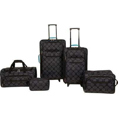 Luggage Set in Black (5-Piece)
