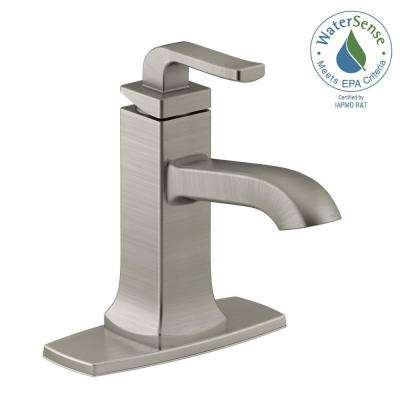 Rubicon Single Hole Single-Handle Bathroom Faucet in Vibrant Brushed Nickel