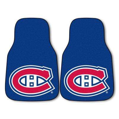 Montreal Canadiens 18 in. x 27 in. 2-Piece Carpeted Car Mat Set