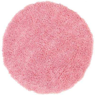 Classic Shag Ultra Pink 8 ft. x 8 ft. Round Area Rug