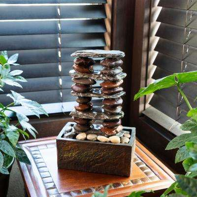 Stacked Rocks Eternity Tabletop Fountain