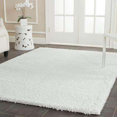 California Shag White 8 ft. x 10 ft. Area Rug