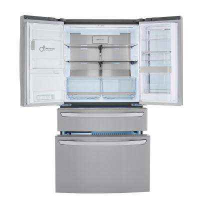 22.5 cu. ft. Smart French Door Refrigerator InstaView Door-In-Door Dual and Craft Ice in PrintProof Stainless