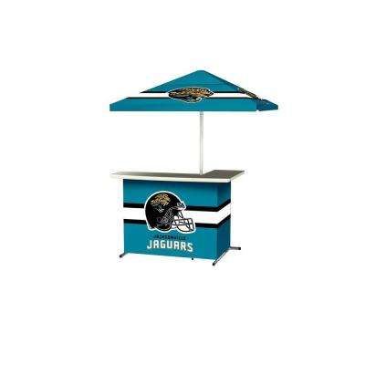 Jacksonville Jaguars All-Weather L-Shaped Patio Bar with 6 ft. Umbrella