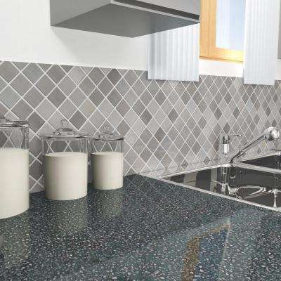 Alloy Quad 11-7/8 in. x 11-7/8 in. x 8 mm Stainless Steel Metal Over Porcelain Mosaic Tile