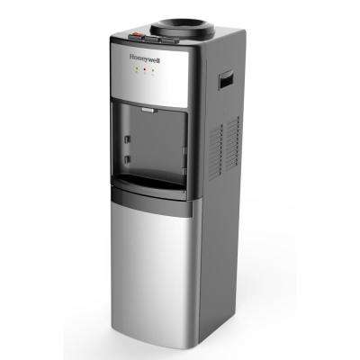 Honeywell 41 in. Commercial Grade Hot, Cold and Room Temperature Water Dispenser, Silver