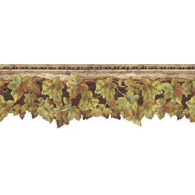 6.5 in. x 15 ft. Brown English Ivy Border