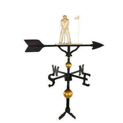 32 in. Deluxe Gold Putter Weathervane