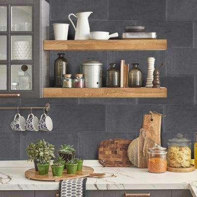Basalt Gray 6 in. x 12 in. Honed Basalt Floor and Wall Tile (1 sq. ft. / pack)