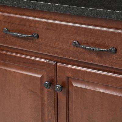 Refined 5 in. Center-to-Center Black Iron Rustic Pull