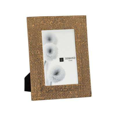 Ripple Texture 1-Opening 4 in. x 6 in. Rose Gold Picture Frame