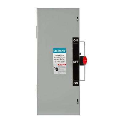 Double Throw 30 Amp 240-Volt 2-Pole Indoor Non-Fusible Safety Switch