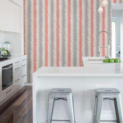 56.4 sq. ft. Quake Coral Abstract Stripe Wallpaper