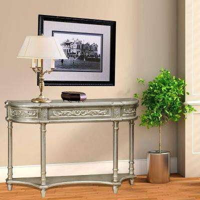 1-Drawer Silver Console Table