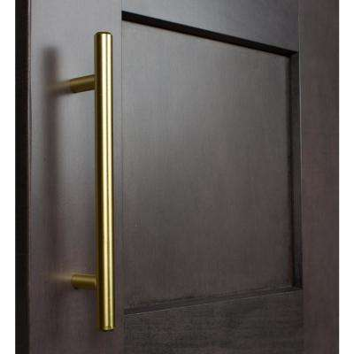 5 in. Center-to-Center Satin Gold Solid Handle Bar Cabinet Drawer Pulls (10-Pack)