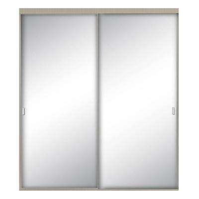 Style Lite Mirrored Brushed Nickel Aluminum Interior Sliding Door
