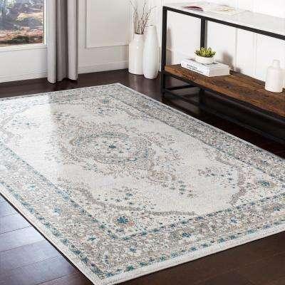 Zora Medium Grey 2 ft. x 3 ft. Oriental Area Rug