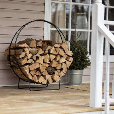 36 in. H Hoop Style Firewood Rack with Durable Iron Construction