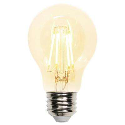 40W Equivalent Amber A19 Dimmable LED Light Bulb