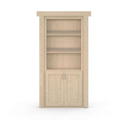 36 in. x 80 in. Flush Mount Assembled Forward Pantry Door Maple Unfinished Right-Hand Inswing
