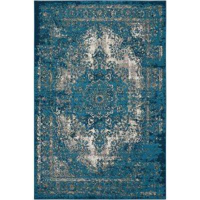 Aria Teal 7 ft. 10 in. x 10 ft. Area Rug