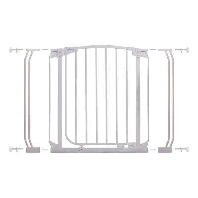 Chelsea 29.5 in. H Auto Close Security Gate in White with Extensions