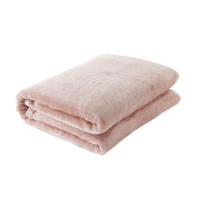49 in. W x 61 in. L Cappuccino Solid Polyester Throw Blanket