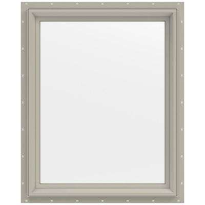 23.5 in. x 29.5 in. V-2500 Series Fixed Picture Vinyl Window - Tan